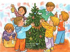 Картинки по запросу конспект с картинками гомзяк составление рассказа Новый год на пороге Christmas Tree, Winter, Kids, Fictional Characters, Image, Folklore, Preschool, Teal Christmas Tree, Winter Time