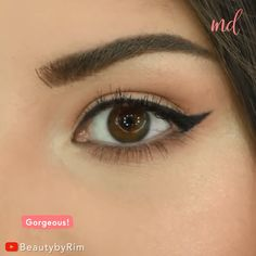 If I could just master the winged liner extra pretty like she does! Perfect Winged Eyeliner, Winged Eyeliner Tutorial, Simple Eyeliner, Winged Liner, Winged Eyeliner Tricks, Eyeshadow For Hooded Eyes, Eyeshadow For Green Eyes, Hooded Eye Makeup, Make Up Hooded Eyes