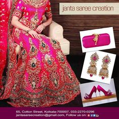 Add zink to your outfit with these accessorise to make you look more beautiful.! #WeddingSeason #Style #Fashion #Looks #Ethnic #JantaSareeCreation