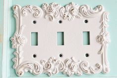 Vintage Metal Wall DecorLight Switch CoverIn by AlacartCreations