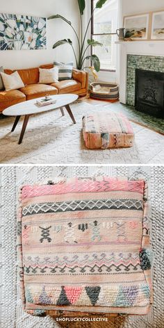 Handmade upcycled Moroccan floor cushion (also known as a 'pouf') made from vintage rugs. Floor cushions add a bohemian flair to any space, and can be used as floor seating, pet beds, ottomans, and more! Moroccan Floor Cushions, Classic Living Room, Floor Seating, Bohemian Living, Extra Seating, Pet Beds, Ottomans, Shag Rug, Vintage Rugs