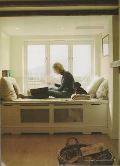 Image result for window book nook built over cast iron radiator