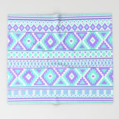 Tribal Art Creation Purple and Mint throw blanket by Tjc555