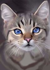 Aceo oil painting cat grey tabby green eyes by bradberry Cat With Blue Eyes, Green Eyes, Animal Paintings, Animal Drawings, Artwork Paintings, Image Chat, Photo Chat, Watercolor Cat, Cat Drawing