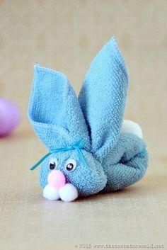 Washcloth Bunny Kid's Craft - That's What {Che} Said...