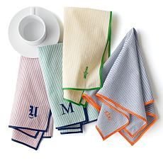 seersucker napkins Personalized and Unique Easter Gifts | Mark and Graham