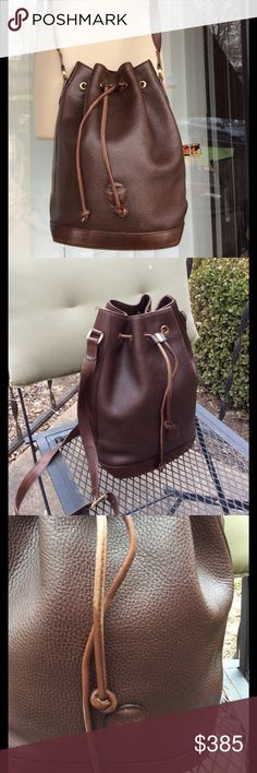 Mark Cross vintage pebble leather bucket bag Drawstring,bucket or shoulder bag,also has oval leather mark,good condition for it's age mark cross Bags