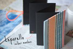 Lybstes. Leporello selber machen mit Neon-Papier