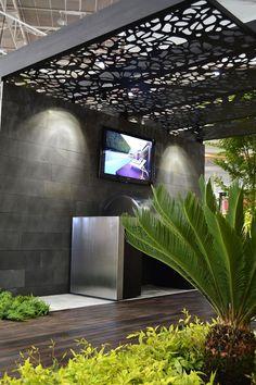 2011 saw Dean and the Rolling Stone team exhibit at the Grand Designs Australia LIVE event in Sydney. The design was contemporary and inviting andView Project Diy Pergola, Pergola Plans, Pergola Kits, Gazebo, Pergola Ideas, Pergola Roof, Modern Landscape Design, Landscape Plans, Modern Landscaping