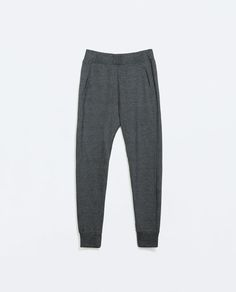 Image 6 of BASIC PIQUE TROUSERS from Zara