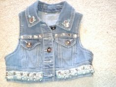 Bedazzled vest, Added jewels from an old prom dress