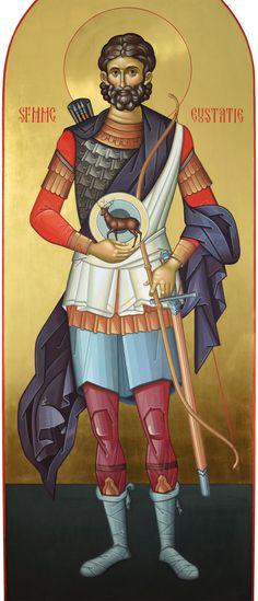 Saint Eustathius / Sf. Eustatie - Ierom. Mihail Byzantine Icons, Byzantine Art, Faith Of Our Fathers, Carolingian, Religious Images, Orthodox Christianity, Chivalry, Orthodox Icons, Christian Art