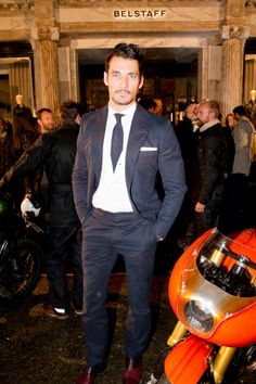 9e08e9f0f25 David Gandy at Belstaff's new London flagship opening event Kevin Tachman /  BackstageAT More images: