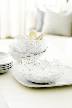 DIY paper bowls via scandinavian deko.