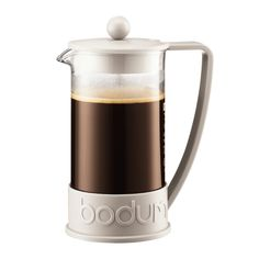 BRAZIL French Press coffee maker, 8 cup, 1.0 l, 34 oz Off white