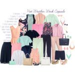 Hot Weather Capsule Wardrobe: Mint, Navy, Pink & Peach