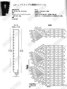 grafico echarpe ponto de abacaxis
