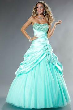 Scalloped Neckline Stunning Ball Gown Elastic Satin Prom Dresses