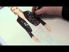 Fashion Illustration - Leather & Lace - YouTube