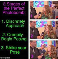 Photobombing like a boss: Wesley Stromberg version.