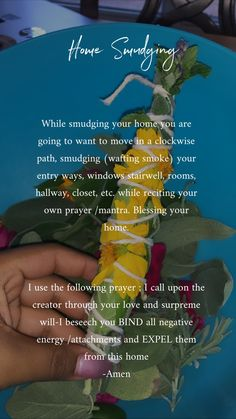 Home smudging, home made sage bundles. While smudging your home you want to move in a clockwise manner. Blessing your home with a blessing or mantra. Sage House Cleansing, Sage Cleansing Prayer, Spiritual Cleansing, Smudging Prayer, Sage Smudging, Candle Spells, Wiccan Spells, Candle Magic, Magick