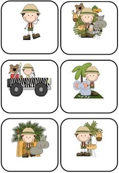 Jungle/Safari Themed Blank Classroom Labels - 48 pages These basic, blank jungle/safari templates can be used as labels to add to your owl theme. There are 7 different designs of the same 12 jungle/safari images i.e. 6 to a page, 4 to a page, 2 to a page, with the images in different positions and 2 sets with the images on a full-page. Includes cover page. $