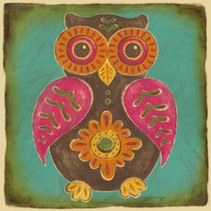 Folklore Owl Canvas Art