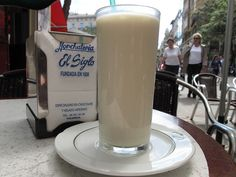 Horchata de chufas (made with tiger nuts, as it is here in Valencia) is an old drink. It dates back to when the Moors were in Spain.