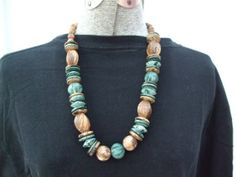Vintage 1980s Necklace Chunky Plastic by GoodGoodyGirlsJewels, $16.00
