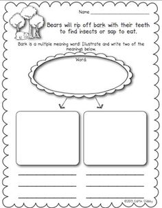 All About Bears: Teaching Multiple Meaning Words