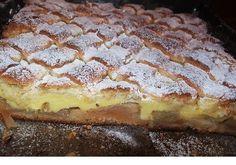 Mámorító vaníliapudingos almás szelet