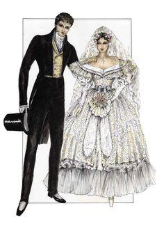 Les miserables by paco delgado Broadway Costumes, Theatre Costumes, Movie Costumes, Wedding Costumes, Les Miserables Costumes, Costume Design Sketch, Les Miserables 2012, Beautiful Costumes, Fantasy Costumes