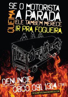 Advertência para os motoristas de ônibus de Belém.
