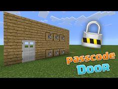 PASSCODE DOOR! - MCPE 0.13.0 Redstone Creations - Minecraft PE (Pocket Edition) - YouTube