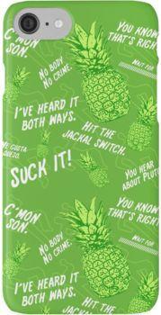 Psych Pineapple Hawaiian Print iPhone 7 Cases