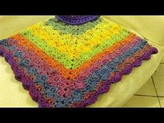 CROCHET PONCHO ANY SIZE ADULT OR CHILD tutorial - YouTube