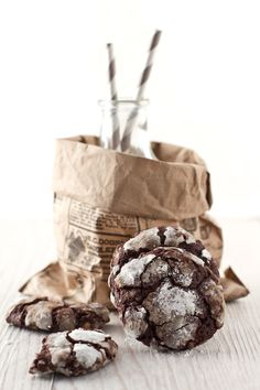 chocolate crinkle cookies chocolate chips double chocolate cookies