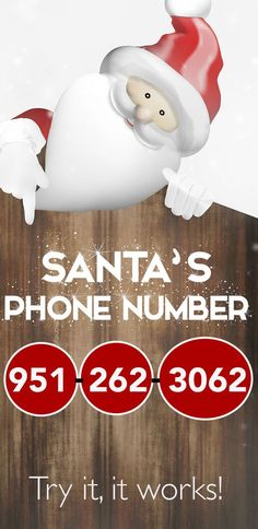 Call Santa Claus - Here's his Phone Number