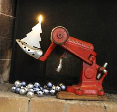 ReNika: industrial candlesticks Candlesticks, Birthday Candles, Christmas, Candle Holders, Xmas, Candlestick Holders, Weihnachten, Navidad, Yule