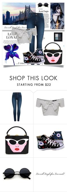 """Everyday Outfit"" by daeix001 ❤ liked on Polyvore featuring Pieces and Converse"