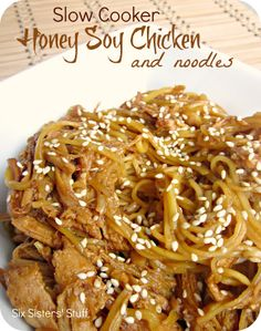 Slow Cooker Honey Soy Chicken and Noodles Recipe