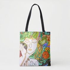 Earth Awakening Tote Bag   Zazzle.com Isis Goddess, Golden Goddess, Triple Goddess, Moon Goddess, Moon Symbols, Wine Tote Bag, The Birth Of Venus, Triple Moon, Large Tote