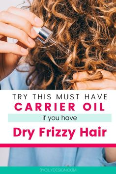 This is the must have carrier oil to strengthen and soften your dry frizzy hair all winter long. We have the top insider tips and hacks for healthy hair and using hair oils. Learn about the different types of carrier oils you can use with your essential oils to promote hair growth, strength, shine and overall health. What you need to know about using carrier oils in your hair. The best in healthy living and lifestyle is found here! Young Living Oils, Young Living Essential Oils, Diy Beauty, Beauty Tips, Diy Beard Oil, Dry Frizzy Hair, Hair And Beard Styles, Hair Styles, Olive Oil Hair
