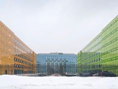Teorema's office in St Petersburg, Russia, by Tchoban Voss has digitally printed facades