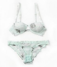 check out 4f73b a10ff mint green and floral lingerie
