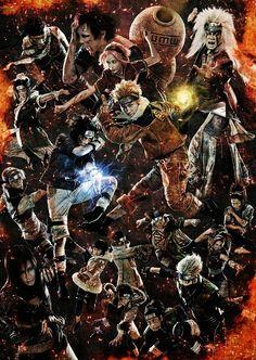 Nueva imagen promocional con todos los miembros del reparto del musical de teatro de Naruto.
