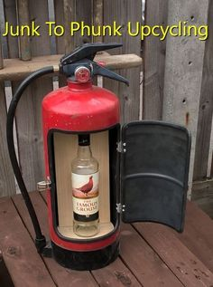 Upcycled Fire Extinguisher Emergency Mini Bar Drinks Cabinet Man Cave  Essential