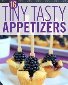 16 Tiny Snacks You Need at Your Next Party Little in size, big on flavor. By Jane Maynard Finger Food Appetizers, Yummy Appetizers, Appetizers For Party, Finger Foods, Appetizer Recipes, Snack Recipes, Pecan Recipes, Party Recipes, Dessert Recipes