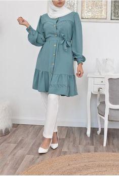 Modest Summer Fashion, Modest Fashion Hijab, Muslim Fashion, Fashion Outfits, Modest Long Dresses, Beautiful Casual Dresses, Latest Dress Design, Casual Frocks, Classy Wear