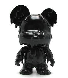 "Mickey Mouse, Mini Qee 5"" Melting Bear Black"